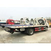 Quality Foton Flat Bed Breakdown Recovery Vehicle , Car Carrier Tow Truck for sale