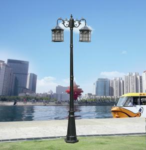 Quality Outdoor LED / LVD 12V 9w power source aluminum garden solar lights yard lamp for sale