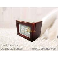 Quality Best Seller Mahogany Color Photo Frame Wood Pet Urn Boxes, Small Order, Engravable, Quality Guarantee. for sale