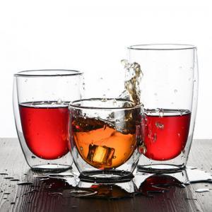 Quality Handblown Pyrex Heat Resistant Borosilicate 450ml Double Wall Glass Coffee Cup Coffee Mug for sale