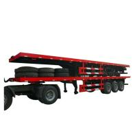 Flatbe  Container Transport Trailer Chassis 40 ton ,60ton,
