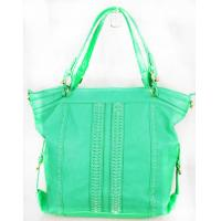 Quality Grass-green stylish Handmade Leather Handbags For Office Lady Meeting for sale