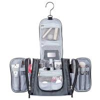 China Large Capacity Hanging Travel Toiletry Bag With Zipper Mesh Pocket on sale