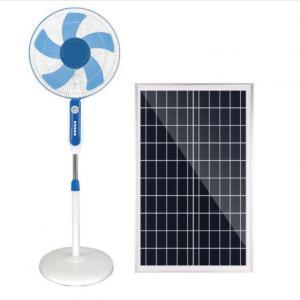 Quality Phosphate Battery 15W 24000mah Solar Pedestal Fan Remote Control for sale