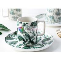 China Fresh Botany Colorful Ceramic Cup And Saucer Porcelain Tea Cup And Saucer Coffee Cup Set on sale