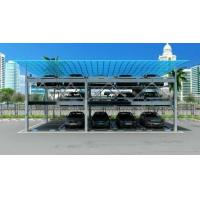 Quality Anti Falling Hook Mechanical Parking Garage Optional Color PLC Automatic Control for sale