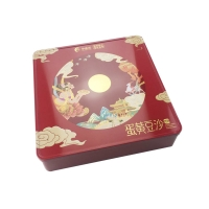 Quality OEM PMS CMYK Food Grade Tinplate Moon Cake Box for sale