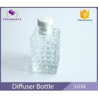 Quality Square Perfume Diffuser Bottle , Aromatic Reed Diffuser Glass Bottle for sale