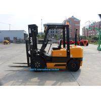 Quality Powershift 3.5T Diesel Forklift Truck 3 Stage 4.5m Mast With Forklift Angle Broom for sale