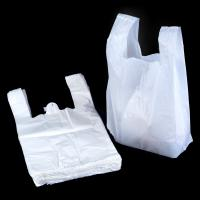 Quality White 100 Biodegradable Plastic Bags , T Shirt Shape Compostable Shopping Bags for sale