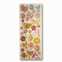 Quality Stickers with Four Color Printing, Customized Patterns are Welcome, Measures 8 x 17cm for sale