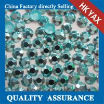 Quality korean octagon aluminiu hot fix rhinestuds& iron on stud,high quality octagon hot fix rhinestud 0825 for sale