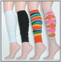 Quality 22 Inch Black / White / Rainbow / Camel Argyle long Knitted Leg Warmers For Dancers for sale