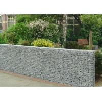 Quality Heavy Zinc Coated Galvanized Wall Basket Square Hole Shape For Gardens / Parks for sale