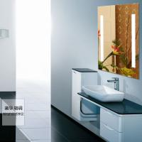 Quality 5mm clear glass led lighted bathroom mirror for sale