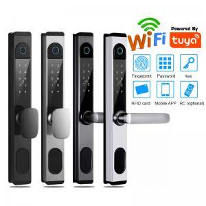 Quality Wifi Electronic Door Lock With Tuya App Control Remotely S876 Fingerprint Glass Door Lock for sale