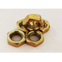 Quality Yellow Zinc Plating M12 Hex Nut 1.25mm Pitch Fastening The Machine Parts for sale