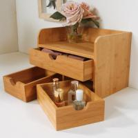 Quality China Bamboo Cosmetic Organizer Table Organizer for sale