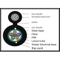 Buy cheap 12 Core Steel Tape armoured Figure 8 Fiber Optic Cable Long Diatance Data Communication from wholesalers