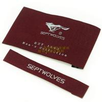 Quality Garments Woven Labels Small Quantities , High Density Woven Apparel Labels for sale