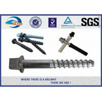 China Stainless Steel / Brass Railroad Concrete Screw Spike Railway Fastening System Parts on sale