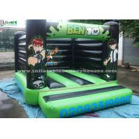 Quality Ben 10 Large Green Inflatable Bouncy Castles For Kids , Made of 610g/m2 PVC Tarpaulin for sale