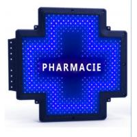 Quality 110V Pharmacie LED Cross Sign Programmable Outdoor Red Color RF Control for sale