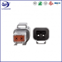 Quality DT04 PA IP68 2 Row Receptacle TE Connectivity AMP Connectors for Transmission for sale
