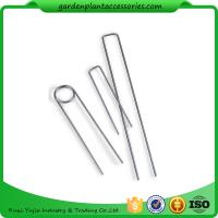 Quality Galvanized Silver Earth Garden Landscape Staples Keep Row Covers Item Garden Earth Staples for sale