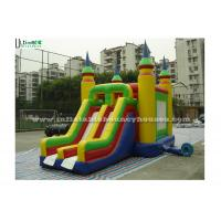 China Bright Colored Small Inflatable Bouncy Castles With Slide  for Children wholesale