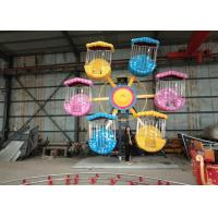 Quality 5-16 Cabins Carnival Ferris Wheel , Luxuriously Decorated Kids Fair Rides for sale