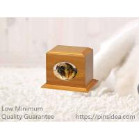 Quality Good Quality Matte Oak Color Birch Wood Affordable Pet Aftercare Photo Frame Monument Urn Box. Quality Guarantee for sale