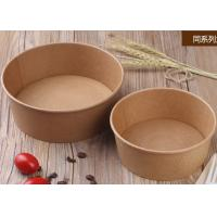 Quality Takeaway Disposable Paper Bowls With Lids , Kraft Brown Paper Bowls for sale