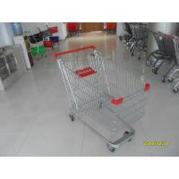 Quality Unfolding Steel Chrome Grocery Shopping Cart With Four Escalator Wheel for sale
