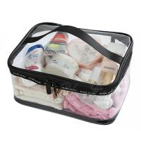 China Clear PVC travel toiletry bag , Minimalism style Makeup Train Case on sale