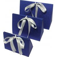 Quality Simple folding apparel  Customized Gift Boxes with show window and silk ribbon for sale