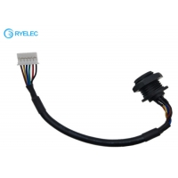 Quality Custom Panel Mount M16 Waterproof Female Connector With 2.0 MM JST PAP-06V-S Cable for sale
