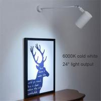 Industrial Black White art wall spotlights long pole picture led light (WH-OR-02
