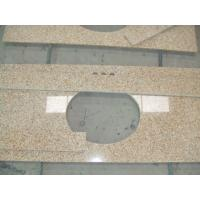 China Sunset Gold Granite Bathroom Vanity Tops , Custom Cut Size Granite Tile Countertop on sale