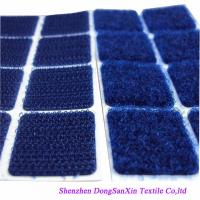 Quality Square Type Hook And Loop Fabric Sheets , Blue  Sticky Pads A Garde for sale