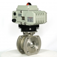 Quality Waterproof Modulating 400Nm Electric Actuated Ball Valve for sale