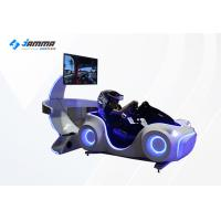 Quality Electric System 9D Virtual Reality Racing Car Driving Simulator White Color for sale