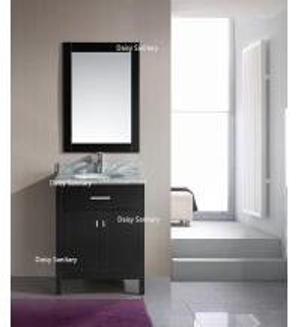 European Style Modern Vanity Set , Safe And Integrate Modern Single Sink Vanity