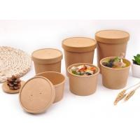 Quality Branded Paper Soup Cups Food Containers Disposable Bowls For Hot Soup for sale