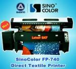Quality Digital Textile Printer SinoColor FP-740, Direct Flag Printing for sale
