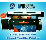 Quality Textile Printer Machine SinoColor FP-740, Sublimation Flag Printing for sale
