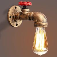 Buy cheap Vintage Retro Rustic Water pipe wall light for Dining room Bar Coffee Shop (WH from wholesalers