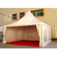 Quality 4M * 4M Pagoda Shape Event Tent With 80-100km/h With Wooden Floor for sale