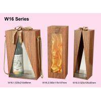 Quality Customized Wooden Wine Box, Wine Packaging Boxes Wrapped With Woodgrained Paper for sale