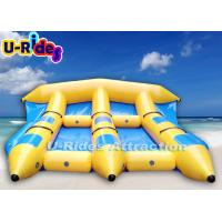 Quality Huge Blue Inflatable Banana Boat / Professional  Inflatable Toy Boats For Kids for sale